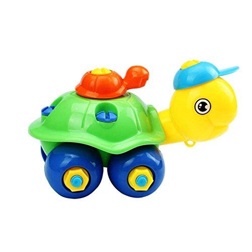 Désassemblage de cadeau de Noël Tortue de voitures, jouets design éducatifs pour les enfants (Vert)