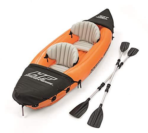 Juego y diversión en el agua! Este robustokayak para dos personaspuede cargar un peso máximo de 160kg. El kayak aprobado por TÜV y GS también tiene una aleta removiblepara una mayor estabilidad direccional. Gracias a las prácticasválvulas puede infla...
