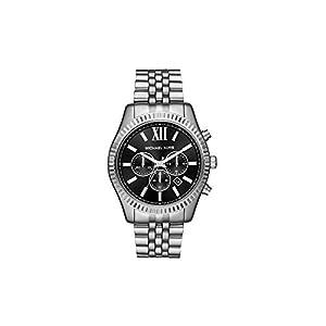 Michael Kors Herren Analog Quarz Uhr mit Edelstahl Armband MK8602