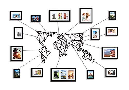 Vanetti - Mapa Mundo geométrico Metal decoración