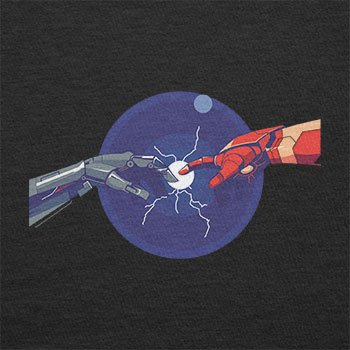 NERDO - Creation of Man - Herren Langarm T-Shirt Schwarz
