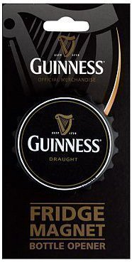 Guinness Bottle Cap geformt Kühlraummagnet / Flaschenöffner (sg) (Guinness Flaschenöffner Magnet)