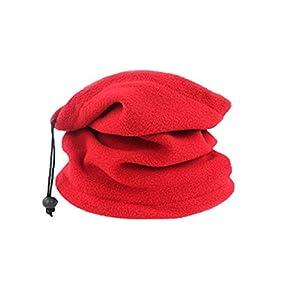 LovelysunshiDEany Outdoor-Sportarten Reiten Winddicht Mütze Schal Double Deck Wintermütze Schal – Rot