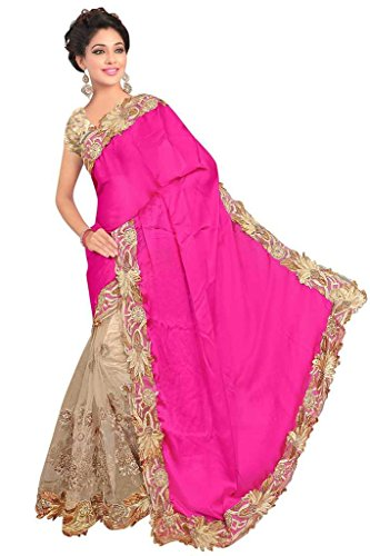 Sarees ( Celeb Styles Women\'s clothing saree for women latest Satin and Net saree collection in latest saree beautiful saree for women party wear offer designer saree with blouse)