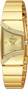 Pulsar Uhren PEGG40X1 - Reloj analógico de cuarzo para mujer con correa de acero inoxidable, color dorado de Pulsar Uhren