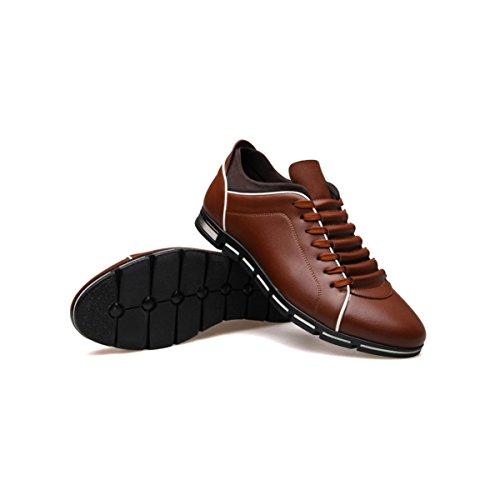 LYZGF La Primavera E L'autunno Degli Uomini Di Grandi Dimensioni Moda Casual Scarpe Sportive Leggere Brown