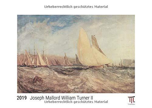 Joseph Mallord William Turner II 2019 - White Edition - Timokrates Wandkalender, Bilderkalender, Fotokalender - DIN A3 (42 x 30 cm)