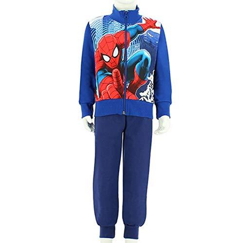 Marvel completo tuta bambino ultimate spiderman 15820/10 (4 anni (104 cm), bluette)
