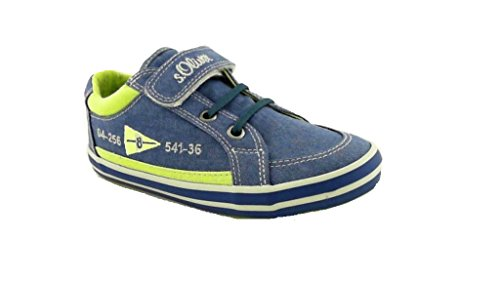 s.Oliver, 44101, Jungen Sneaker, blau Kombi(596) Blau