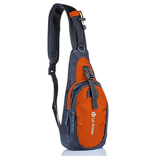 LC Prime Sling Rucksack Chest Bag, Umhängetasche Daypack Brusttaschen Schultertasche für Damen und Herren