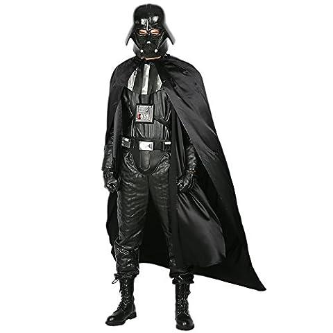 Halloween Costume Cosplay Hommes Adultes Noir Complet Deluxe Déguisement Fancy Dress Vêtements avec Gants