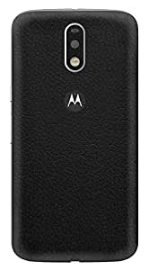 Skinnova Black Leather Skin for Moto G4 Plus