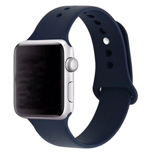 ZRO Smart Watch Correa, Silicona Suave Reemplazo de Banda Sport Band para Apple iWatch Serie 2/ Serie 1 42mm S/M, Azul Medianoche