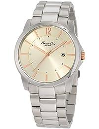 Kenneth Cole pour homme montre à quartz avec cadran beige Affichage analogique et bracelet en acier inoxydable Argenté Kc3960(Reconditionné Certifié)