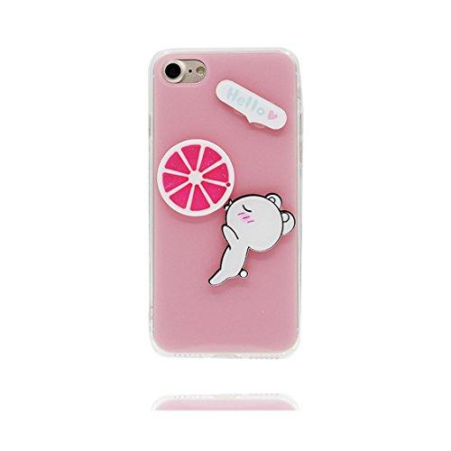 iPhone 6S Copertura,iPhone 6 Custodia,Caso sottile di TPU di modello del limone della frutta di alta qualità[Prova di scossa]case Cover for iPhone 6S /6 4.7-giallo #