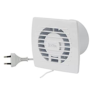Wandventilator Lüfter Abluft Kabel Schalter Ventilator Küche WC Bad Ø 100 mm E100WP