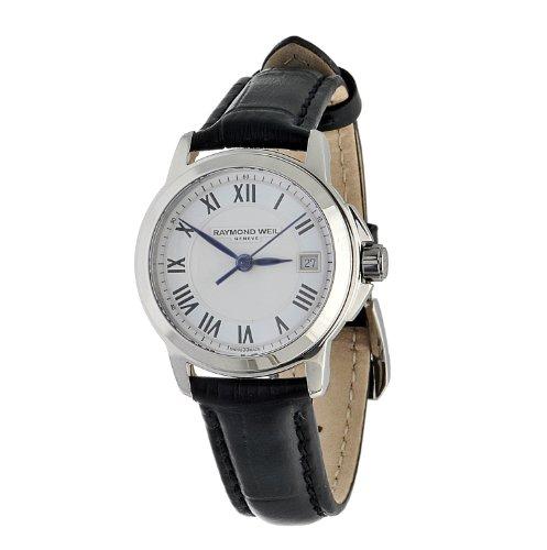raymond-weil-tradition-damen-27mm-schwarz-leder-armband-datum-uhr-5378-stc-00300