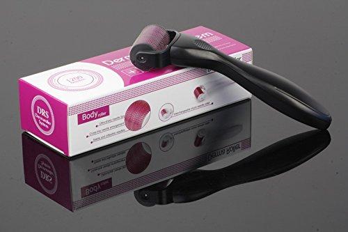DRS BODY DERMAROLLER mit 1200 Mikronadeln 2,0 mm Nadellänge für Körper Aknenarben Cellulite stimuliert Durchblutung