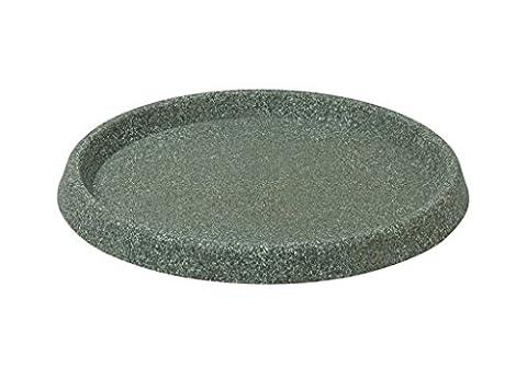 Stewart 5133063 24 cm Round Decorative Saucer - Marble Green