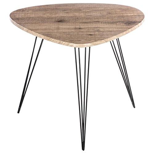 Table basse Table d'appoint - Style Vintage - Coloris BOIS et NOIR