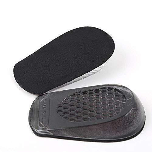 Mouchao Frauen körperliche Überhöhung Einlegesohle Hälfte Pad Silikon elastische unsichtbare Zunahme Schwarz 3.5cm -