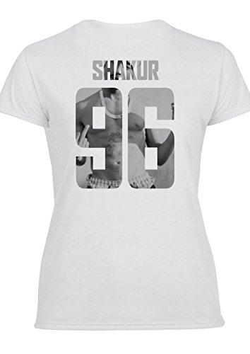 Shakur 96 Tupac Damen T-Shirt & Weste T-Shirt (Entwurf auf der Rückseite)