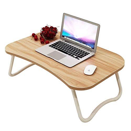 Groove-holz (Anah Lap Desk Lap Tray für Kinder Erwachsene, Betttablett, klappbarer Frühstückstisch, mit Cup Groove und Handyfach, Holz)