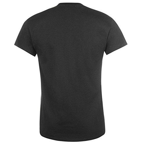 Firetrap Blackseal Herren Black Sabbath T Shirt Kurzarm Rundhals Print Baumwolle Schwarz