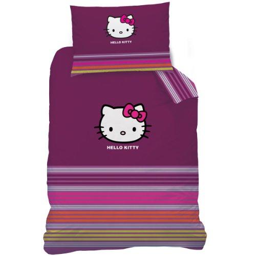 CTI 041146 Bettwäsche Hello Kitty Sarah, Baumwolle Linon, 140 x 200 und 70 x 90 cm