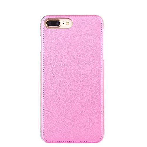 Hülle für iPhone 7 plus , Schutzhülle Für iPhone 7 Plus PU-Leder Schutzmaßnahmen Schutzhülle ,hülle für iPhone 7 plus , case for iphone 7 plus ( Color : Gold ) Pink