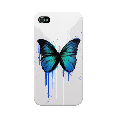 MediaDevil Grafikcase Apple iPhone 5 / 5S Hülle: Ultra Slim Edition - Blue Galaxy (Glänzend) RYCA: Butterfly (Blue)