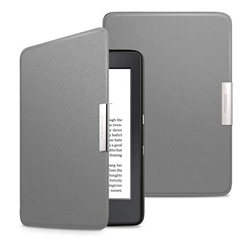 MoKo Kindle Paperwhite Hülle - Ultra Leightweight Slim Schutzhülle Smart Cover mit Auto Sleep / Wake Funktion für Alle Kindle Paperwhite (2016 / 2015 / 2013 Modelle mit 6 Zoll Bildschirm), Nicht Kompatibel für All-new Paperwhite 10th generation 2018, Grau