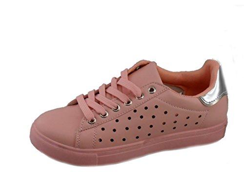 Rebelde , Damen Sneaker Rosa