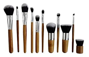 JVJ Kit Set Professionale 11 Pennelli Make up Brushes Trucco + Cosmetici Custodia E5