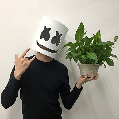 Jestool DJ Maske, Latex DJ Maske Halloween Party Nachtclub Weiße Maske Erwachsene Cosplay Kostüm Helm für Party Kostüm Spielen (Ich Bin Nicht Tragen Ein Kostüm)