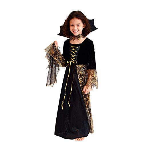Kostüm Halloween Abenteuer Maskerade - wojiaxiaopu Halloween Maskerade kostüm Cosplay schwarz Gold Magic Witch Set Gold Witch Eltern-Kind Kleidung schöne spinne hexenkostüm 155-165