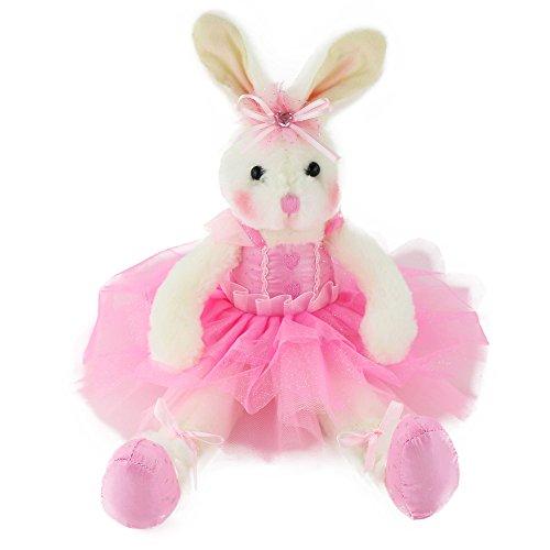 WEWILL Marken-Qualität Original Entzückende Plüsch Ballerina-Häschen Stofftier Kaninchen-weiche Spielzeug-Puppe 15-Inch/ 40CM (Lila)