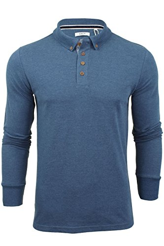 Xact Mens Polo T-Shirt by Pique Long Sleeved ' Lincoln '