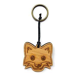 Schlüsselanhänger Fuchs aus Holz optional mit individueller persönlicher Gravur !