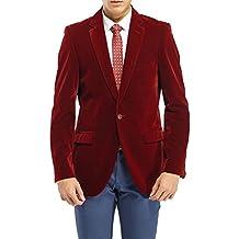 Uomo it Velluto Rosso Giacca Amazon A8qwp1