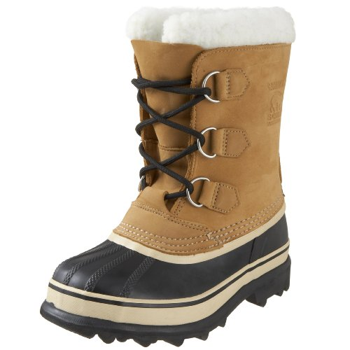 Sorel Youth Caribou - botas de nieve de cuero niño, color marrón, talla 37