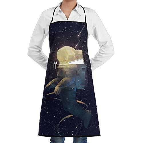 Sangeigt Küche, die Garten-Schürze kochtn, Bib Apron Pockets Starry Sky Durable Cooking Kitchen ()