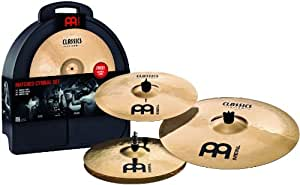 "Meinl - Classics Custom - Set de cymbales accordées avec Hi-Hat 14"", Crash 16"" et Ride 20"""