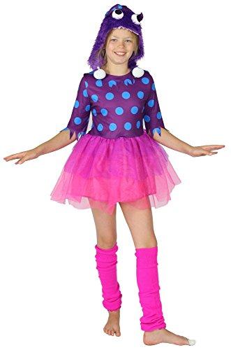 Foxxeo Lila Monster Kostüm für Mädchen Gr. 98 -