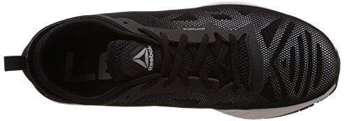 Reebok - Lm Cardio Ultra 2.0, Scarpe sportive Uomo Multicolore (Plateado / Blanco / Negro (Silver Met / Black / White))