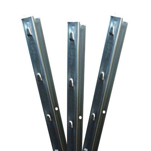 Aquagart Z-Profil Zaunpfosten 1,5 m verzinkt I 10 Stück Metallzaunpfosten aus Bandstahl 1,2mm stark I hochwertige Zaunpfähle für Wildzaun Weidezaun Drahtzaun Wildschutzzaun Knotengeflecht Zaun