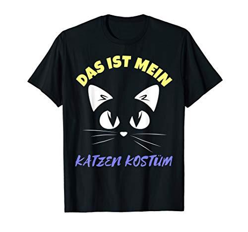 Kostüm Katze T Shirt - Das ist Mein Katzen Kostüm Party T-Shirt für Oktoberfest