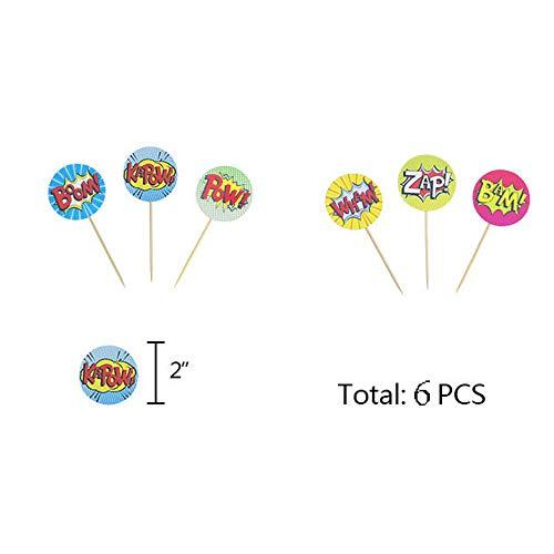 41rfol2wP8L - Juego de decoración de cumpleaños de superhéroes (31 Piezas) - Globos de Colores con pancartas de superhéroes y pancartas de superhéroes, decoración de Pasteles, Pegatinas y muñequera para niños