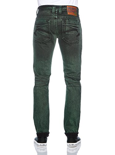 One Green Elephant Jeans  Slim Homme Vert - Grün (O2314 Dark night wash / olive)