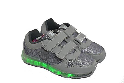 Zapato Combinado Plomo con Varias Luces 55357